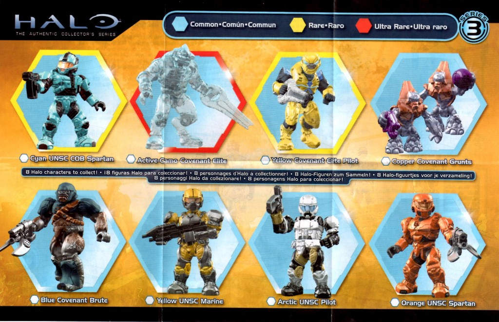 Halo Mega Bloks Series 3 Set List