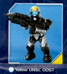 Halo Mega Bloks Series 4 Yellow UNSC ODST