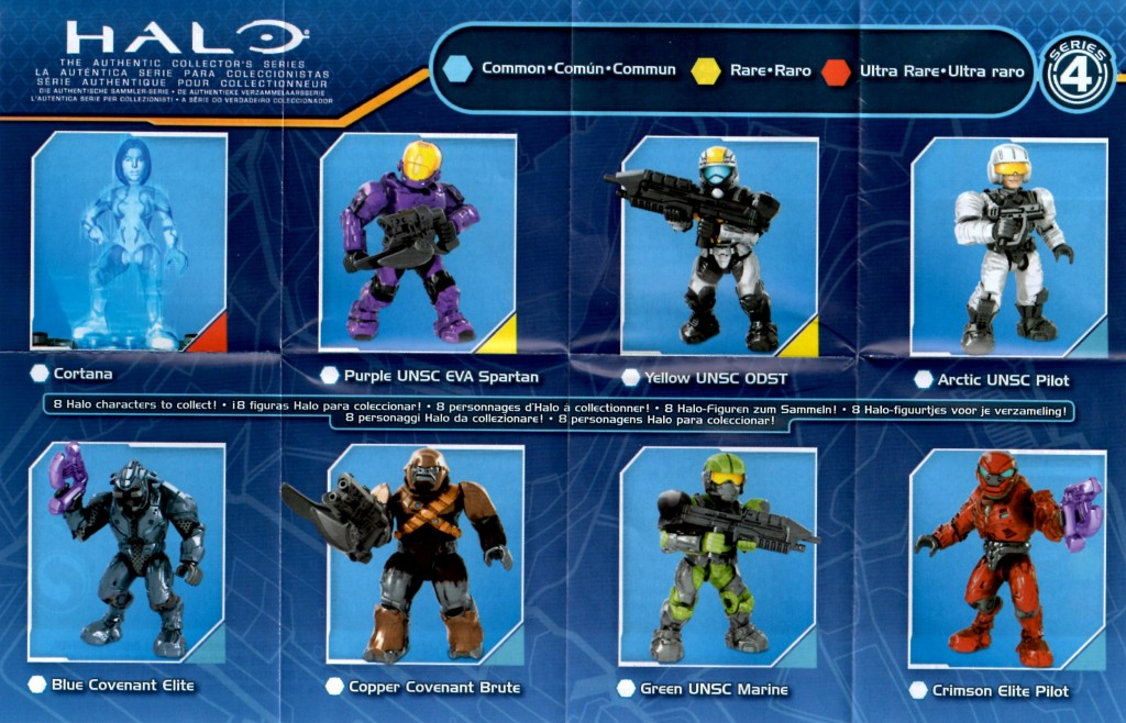 Halo Mega Bloks Series 4 set list