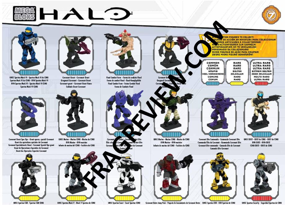 Halo Mega Bloks Series 7 Code List
